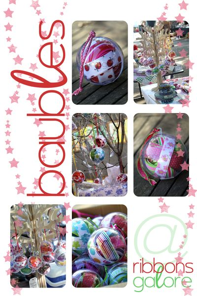 Ribbons Galore baubles available to pre-order until 23 July 2010
