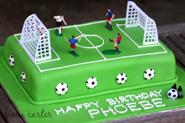 Cake Decorating Ideas For Soccer : Soccer-cake-1a