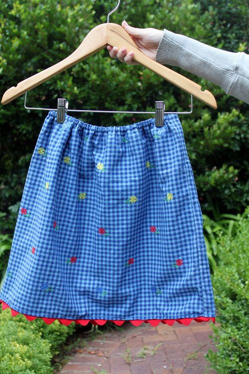 EFC sewing skirt