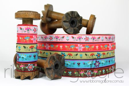 Ribbons Galore new ribbons Feb 2012