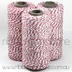 Ribbons Galore red & white twine