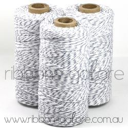 Ribbons Galore oyster grey & white bakers twine