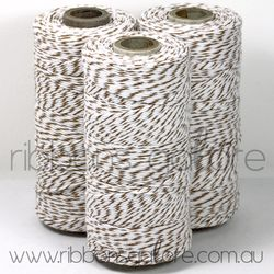 Ribbons Galore brown sugar & white bakers twine