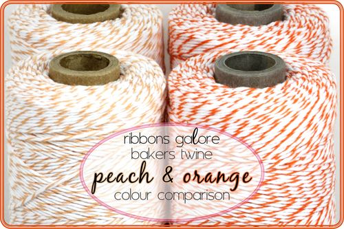 Ribbons Galore bakers twine colour comparison