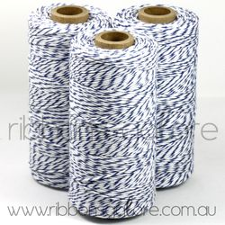 Ribbons Galore blueberry & white bakers twine