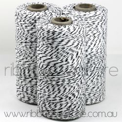 Ribbons Galore black & white bakers twine