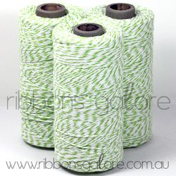 Ribbons Galore green & white bakers twine