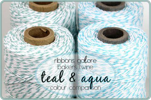 Ribbons Galore bakers twine colour comparison