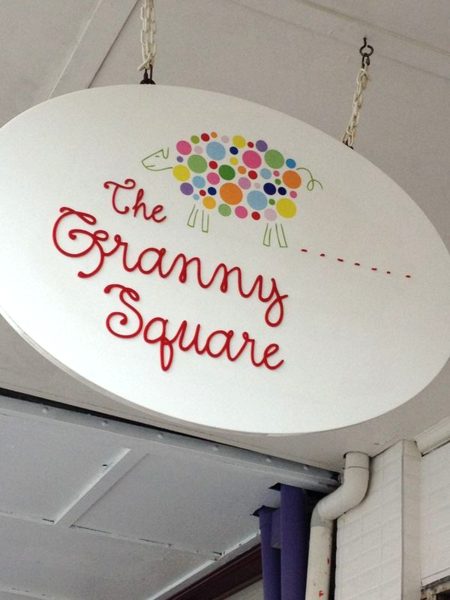 The Granny Square shop sign