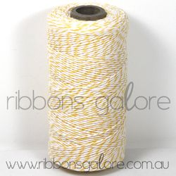 Ribbons Galore yellow & white bakers twine