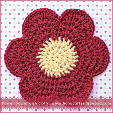 FEC flower power dish cloth