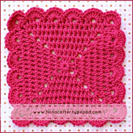 Fiona Carter's crocheted dish cloth