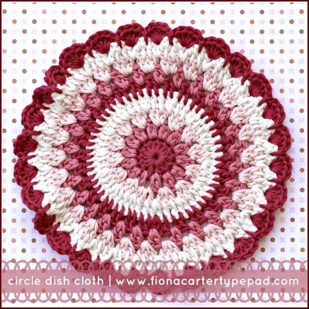 Fiona Carter's circle dish cloth