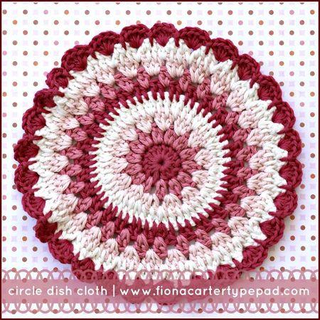 Fiona Carter's circle dish cloth