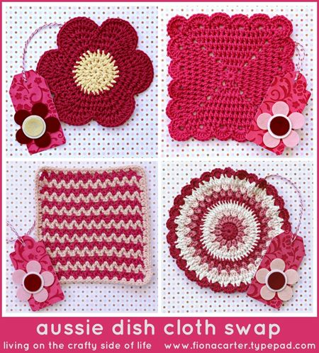 Fiona Carter's aussie dish cloth swap