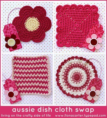 Fiona Carter's aussie dish cloth swap