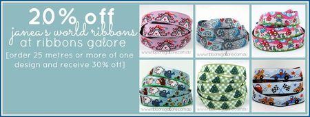 Ribbons Galore Janea's World ribbon sale
