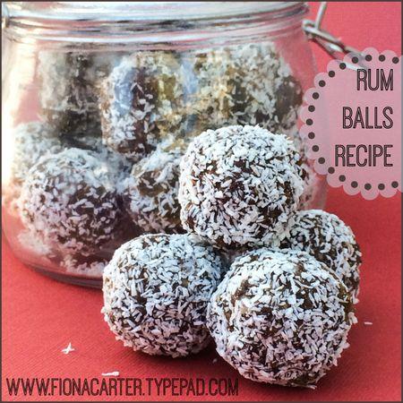 Fiona Carter's rum balls
