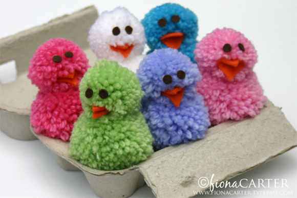 Fiona Carter's pompom Easter chicks tutorial