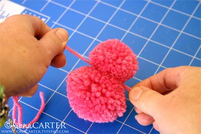 Fiona Carter pompom Easter chicks tutorial step 4