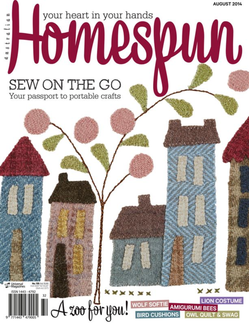 Homespun magazine August 2014
