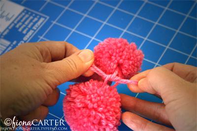 Fiona Carter pompom Easter chicks tutorial step 3