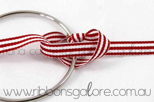 Ribbons Galore mini Christmas wreath tutorial step 2 (created by Fiona Carter)