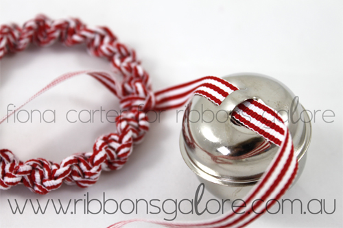 Ribbons Galore mini Christmas wreath tutorial step 4 (created by Fiona Carter)