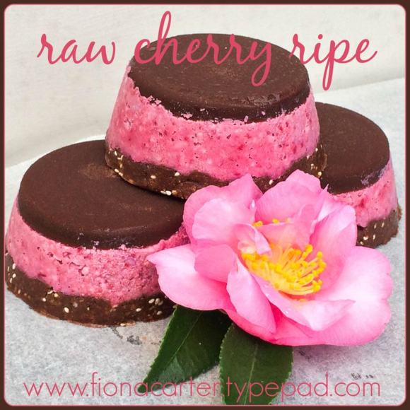 Raw cherry ripe made by Fiona Carter