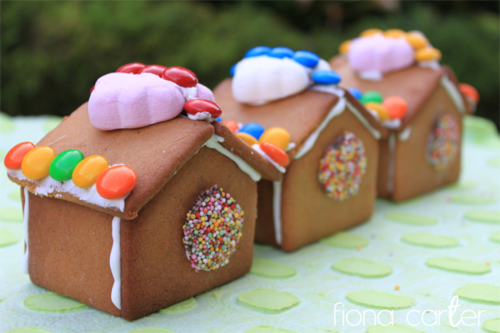 Fiona Carter's mini gingerbread houses
