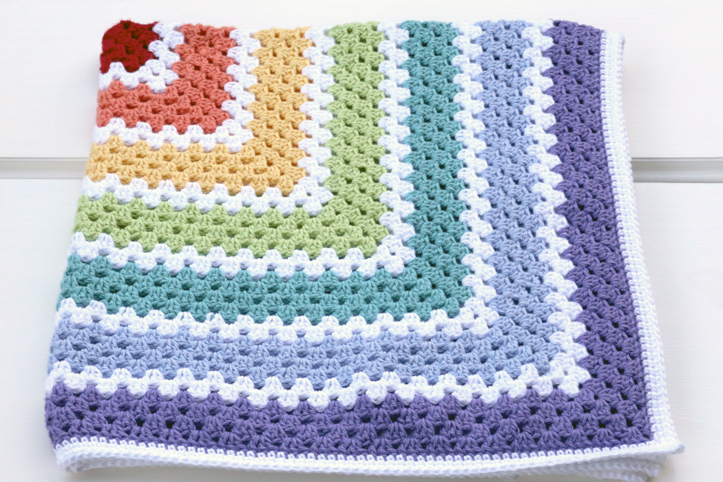 Living On The Crafty Side Of Life Crochet Granny Square Blankets