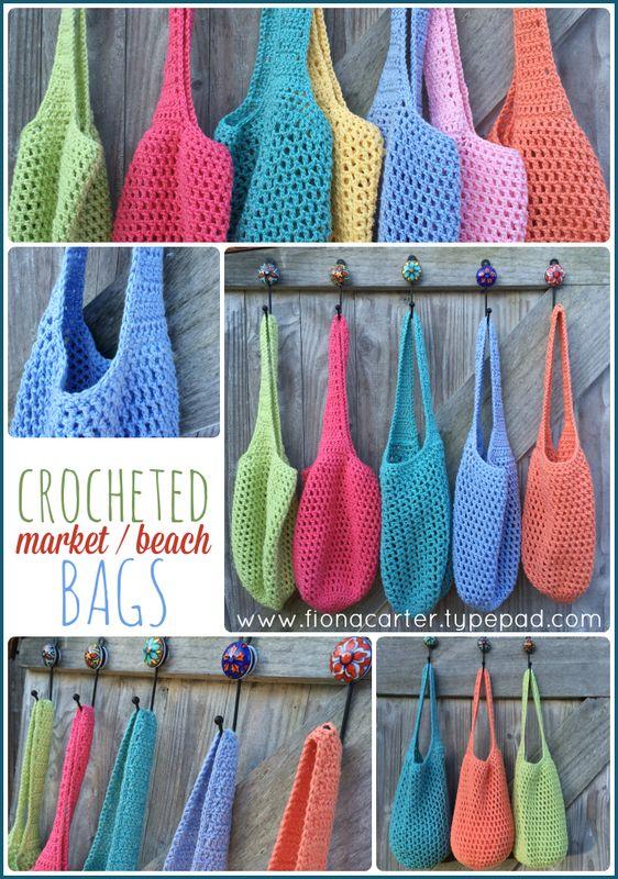 Fiona Carter's crochet bags