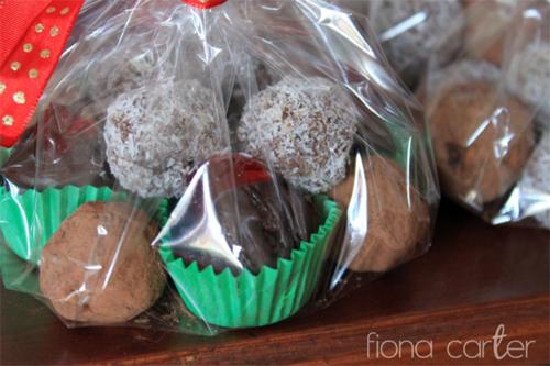 Fiona Carter's Christmas truffles
