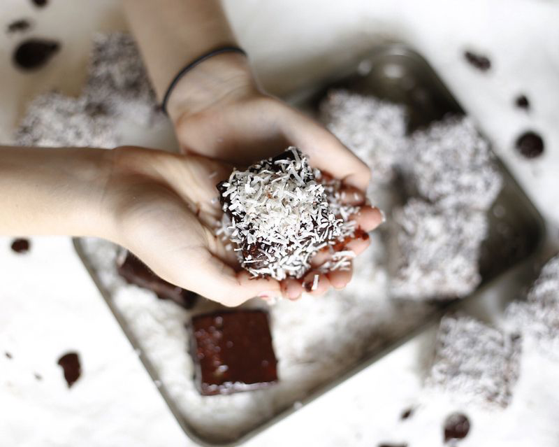 Lamingtons baked by Fiona Carter