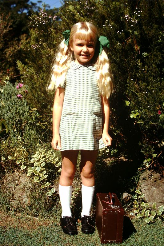1971 Fiona's first day of school